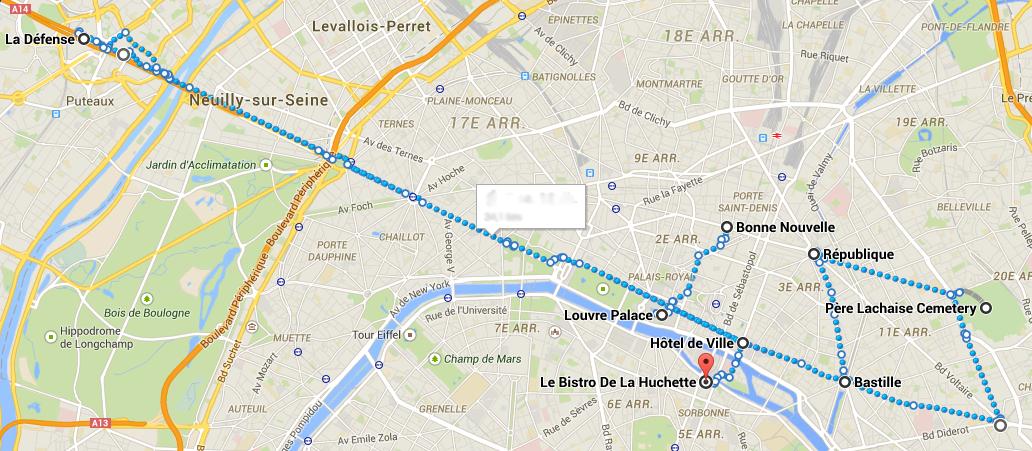 Paris-Ucuncu gun rota